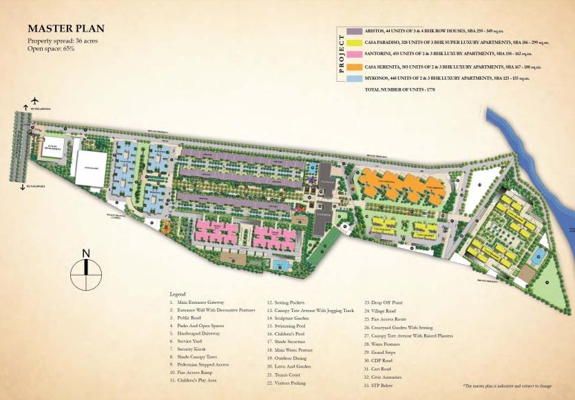 sobha city mykonos project master plan image1