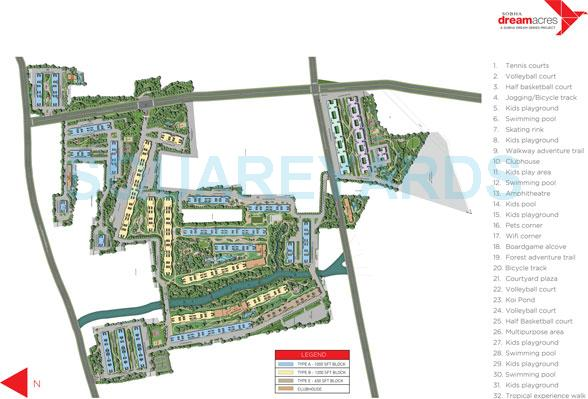 sobha dream acres master plan image1