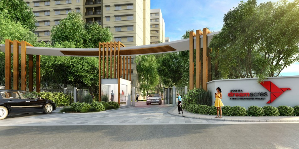 sobha dream acres project entrance view2