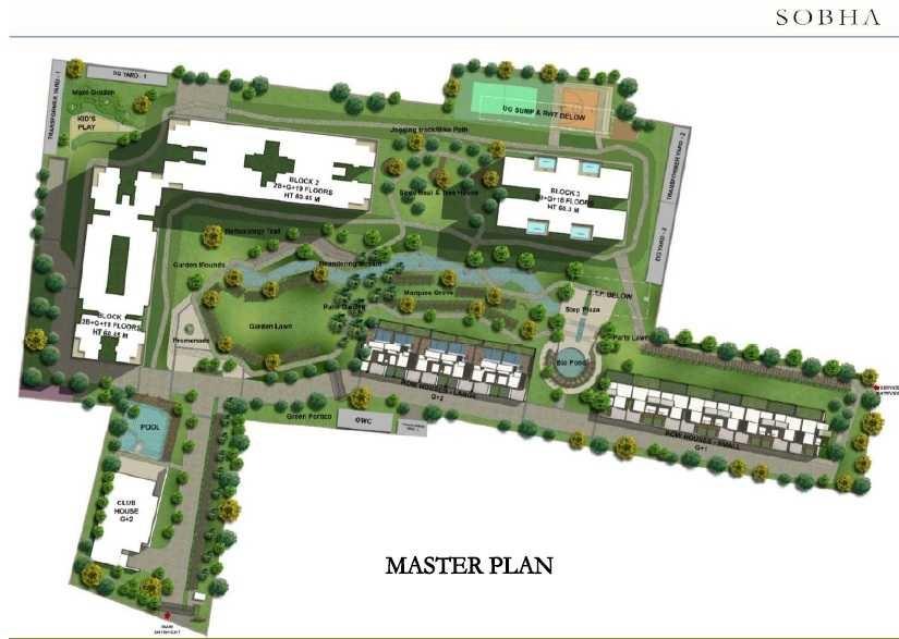 sobha hrc pristine phase 4 block 4 and 5 master plan image4