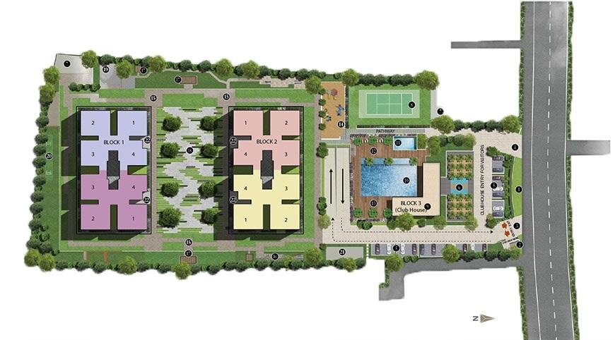 sobha palm courts project master plan image1