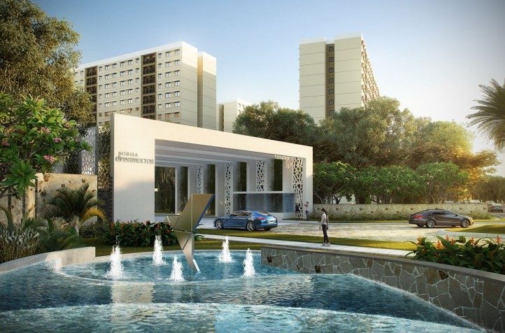 sobha palm springs phase 12 wing 48 and 49 entrance view6