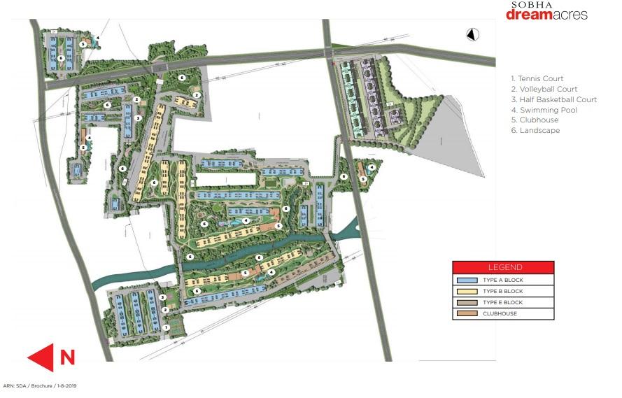sobha palm springs phase 14 wing 53 master plan image8