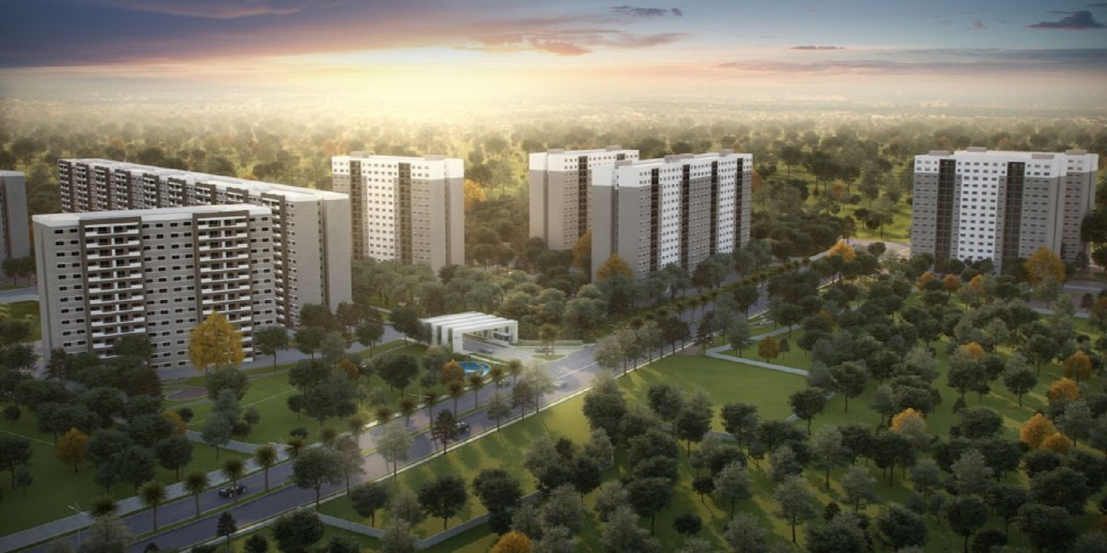sobha rain forest project tower view2