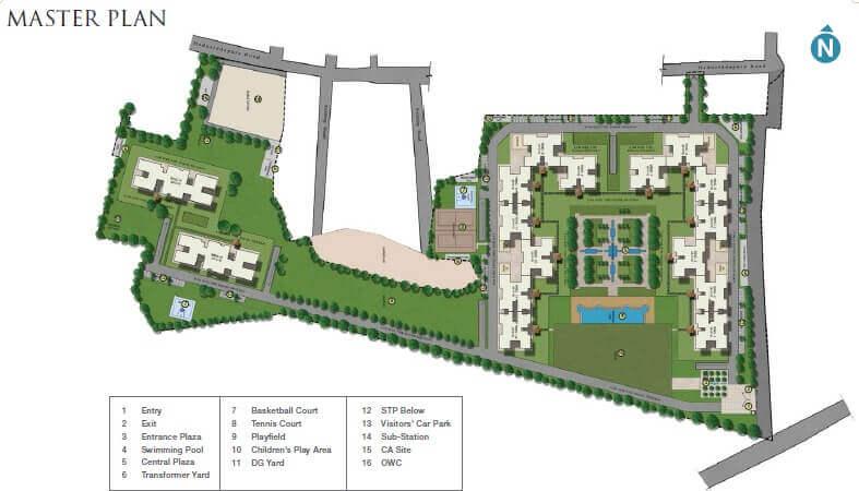 sobha royal pavilion master plan image1