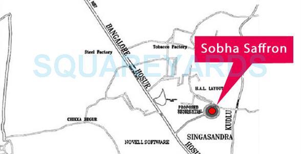 sobha saffron location image1