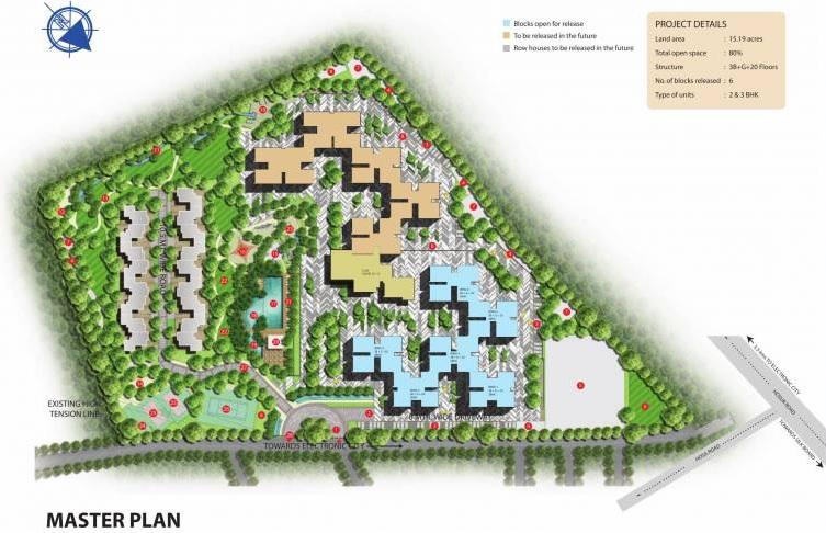 sobha silicon oasis rowhouses location image2