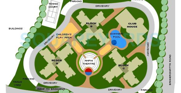 sobha sobha magnolia master plan image1