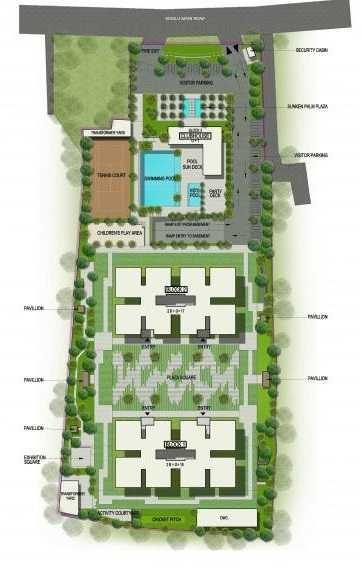 sobha square project master plan image1