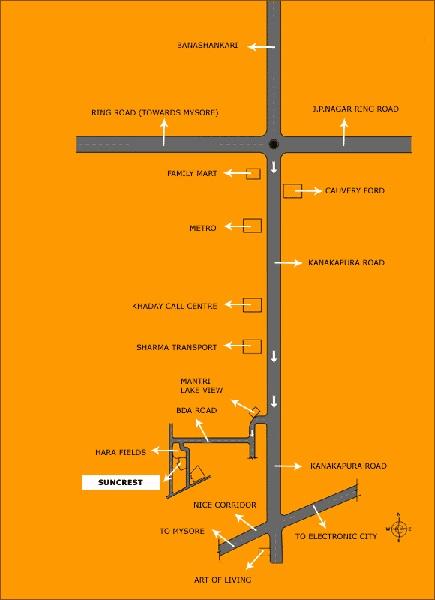 sobha suncrest project location image1