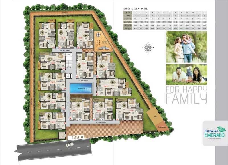 sri balaji emerald project master plan image1
