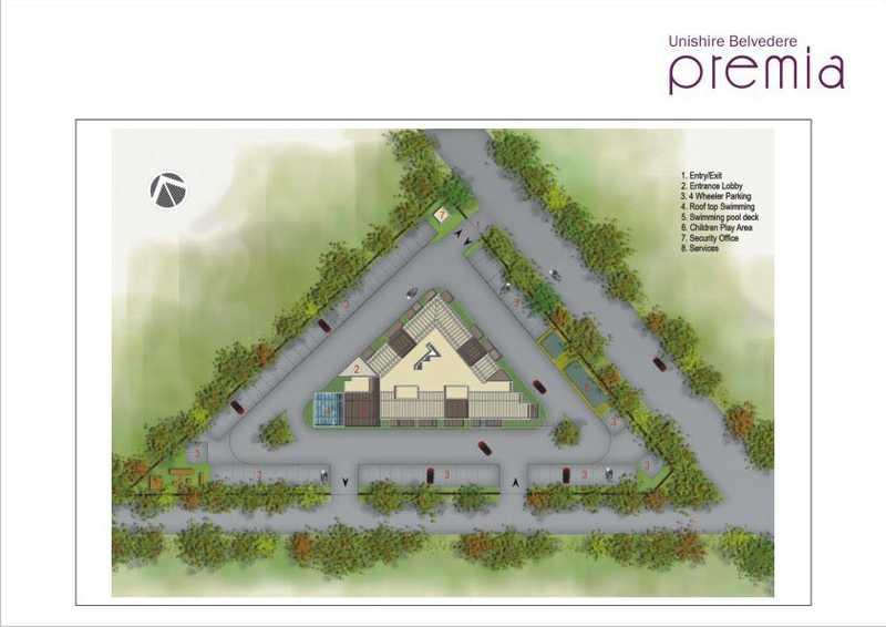 unishire belvedere premia project master plan image1