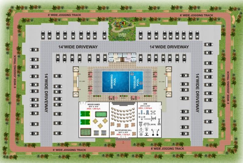 vk krishna gardenia project master plan image1