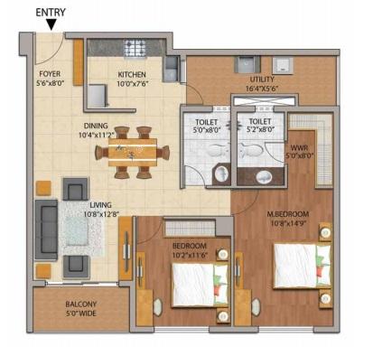 adarsh palm retreat mayberry apartment 2bhk 1230sqft61