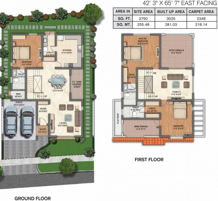 adarsh wisteria phase 1 villa 3bhk 3025sqft01