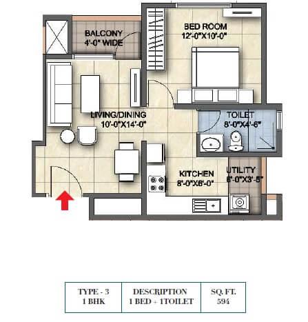 ajmera lugaano apartment 1bhk 594sqft 1