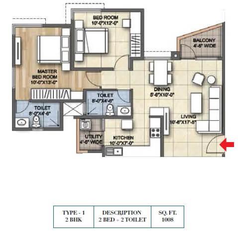 ajmera lugaano apartment 2bhk 1008sqft 1