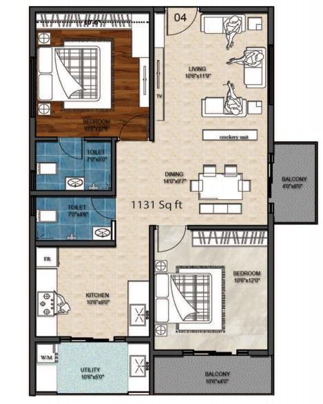 aloki quanta apartment 2bhk 1131sqft21