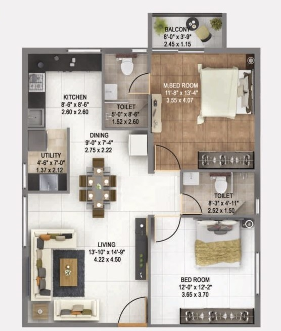 anand alpine apartment 2bhk 1216sqft 1