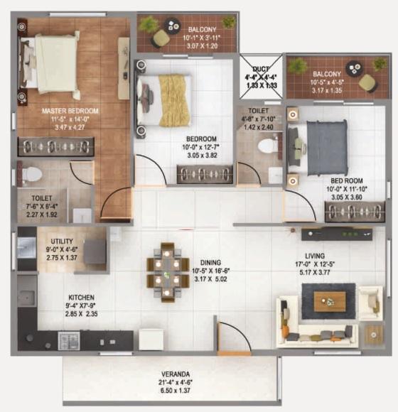anand alpine apartment 3bhk 1769sqft 1