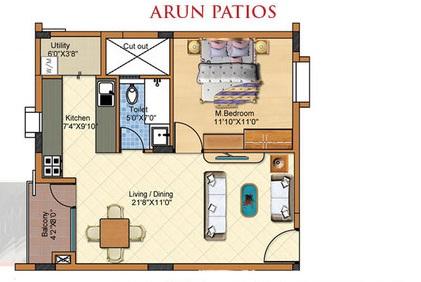 arun patios apartment 1bhk 730sqft 1