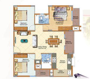 arun patios apartment 3bhk 1190sqft 1