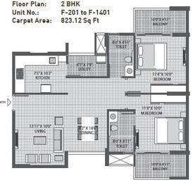 arvind sporcia apartment 2bhk 823sqft1