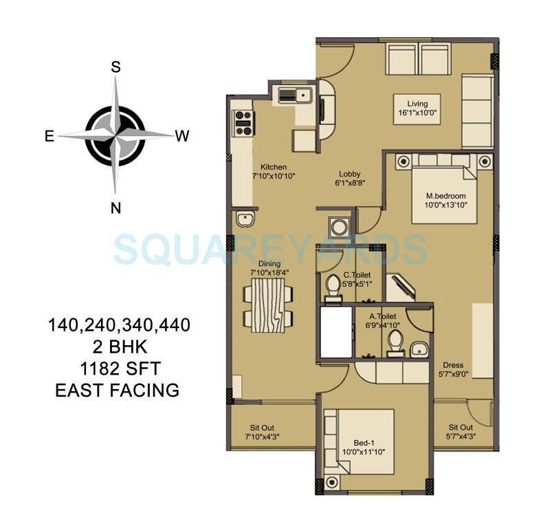 asset builders elvira apartment 2bhk 1182sqft1
