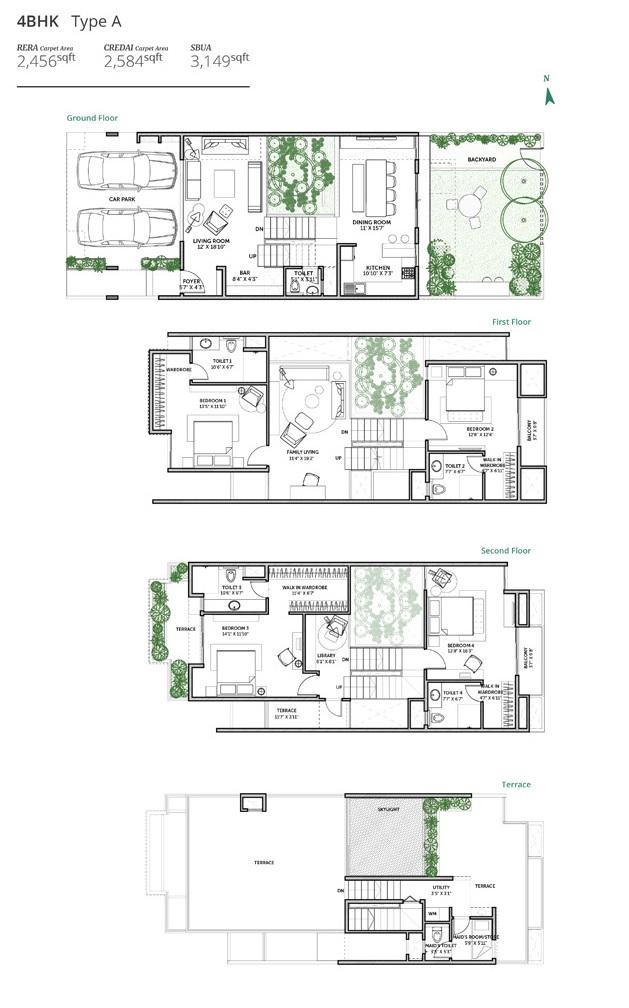 assetz earth and essence villa 4bhk 3061sqft 1