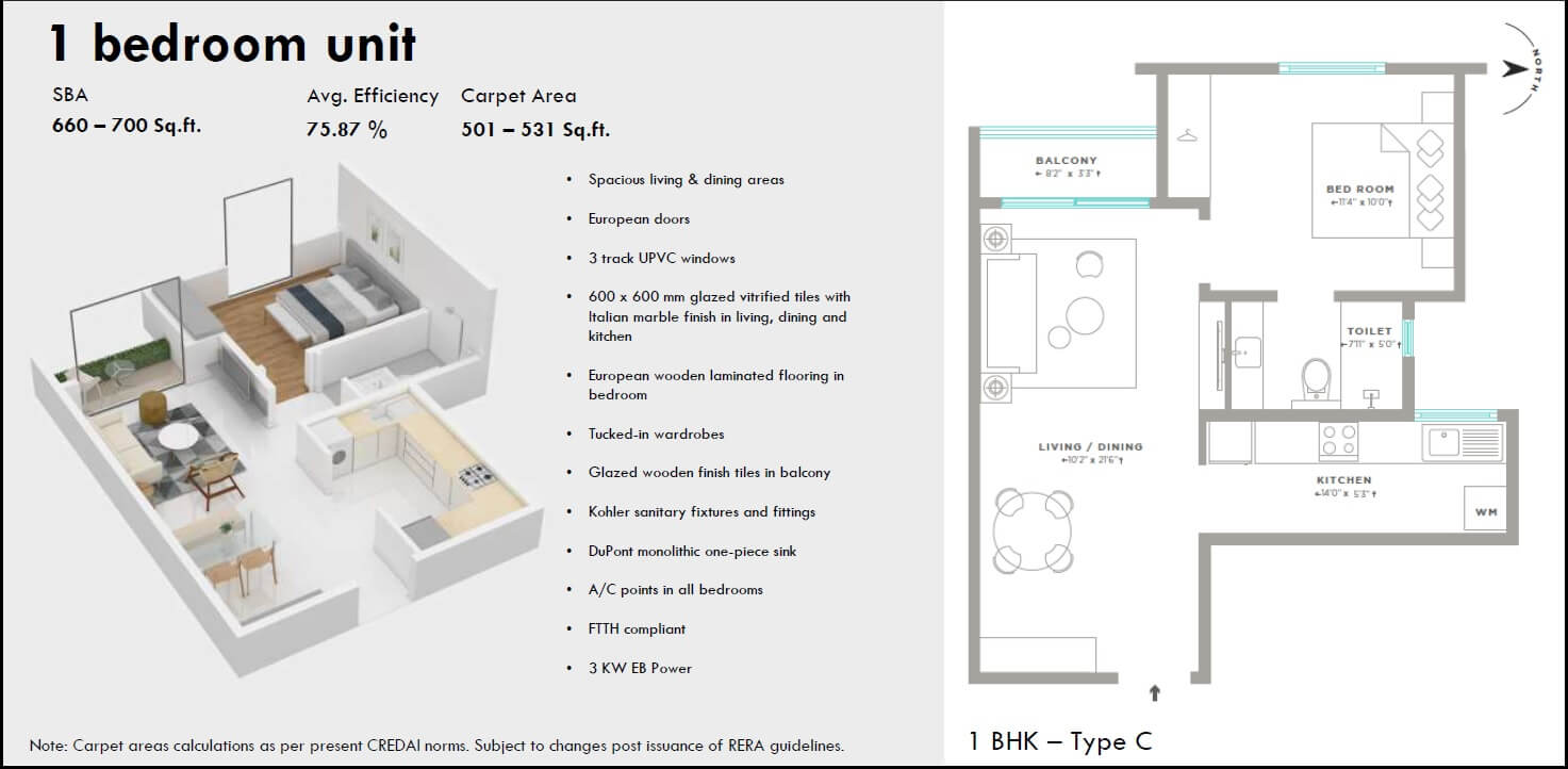 assetz here and now apartment 1bhk 695sqft 1