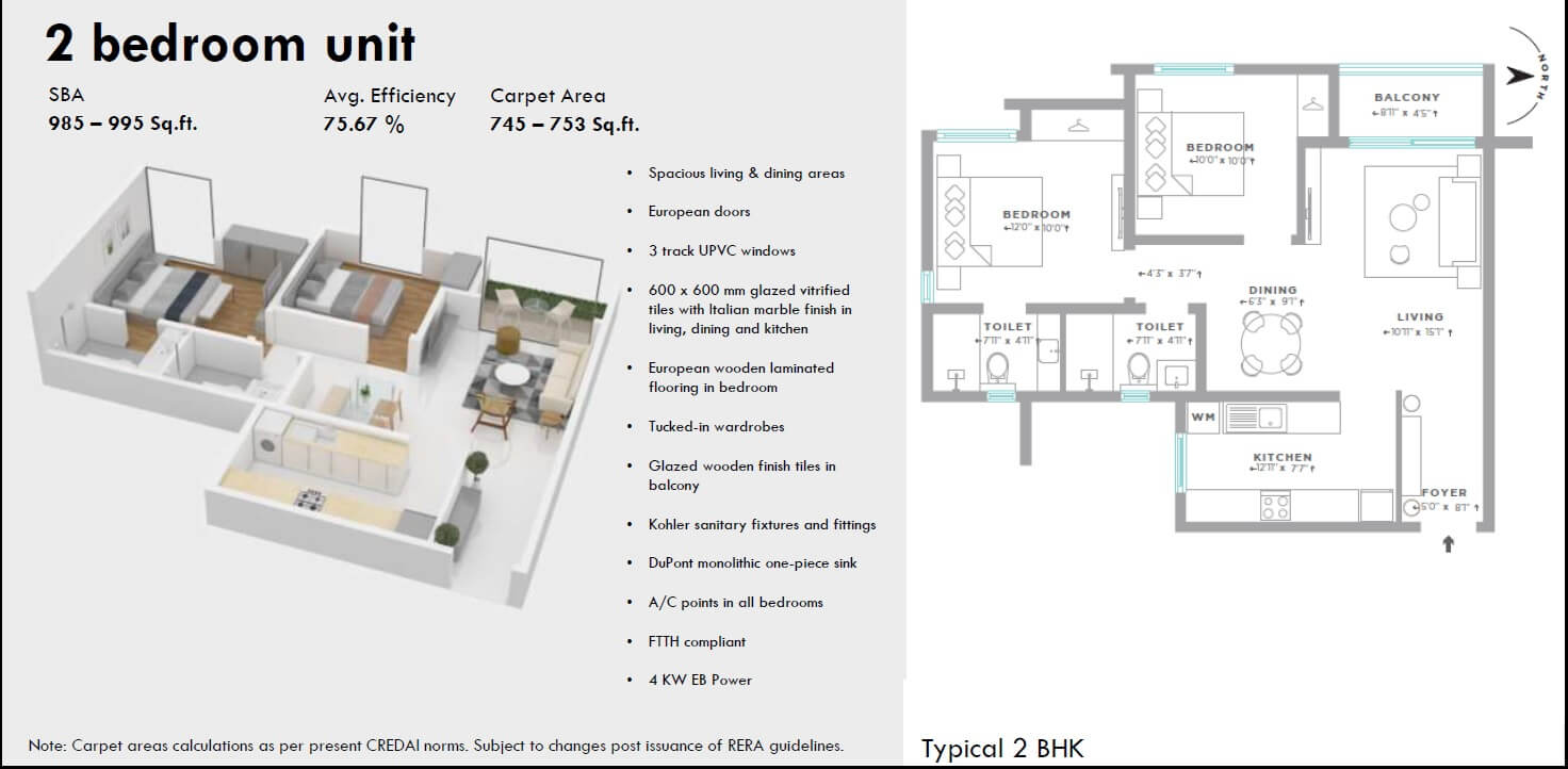 assetz here and now apartment 2bhk 995sqft 1