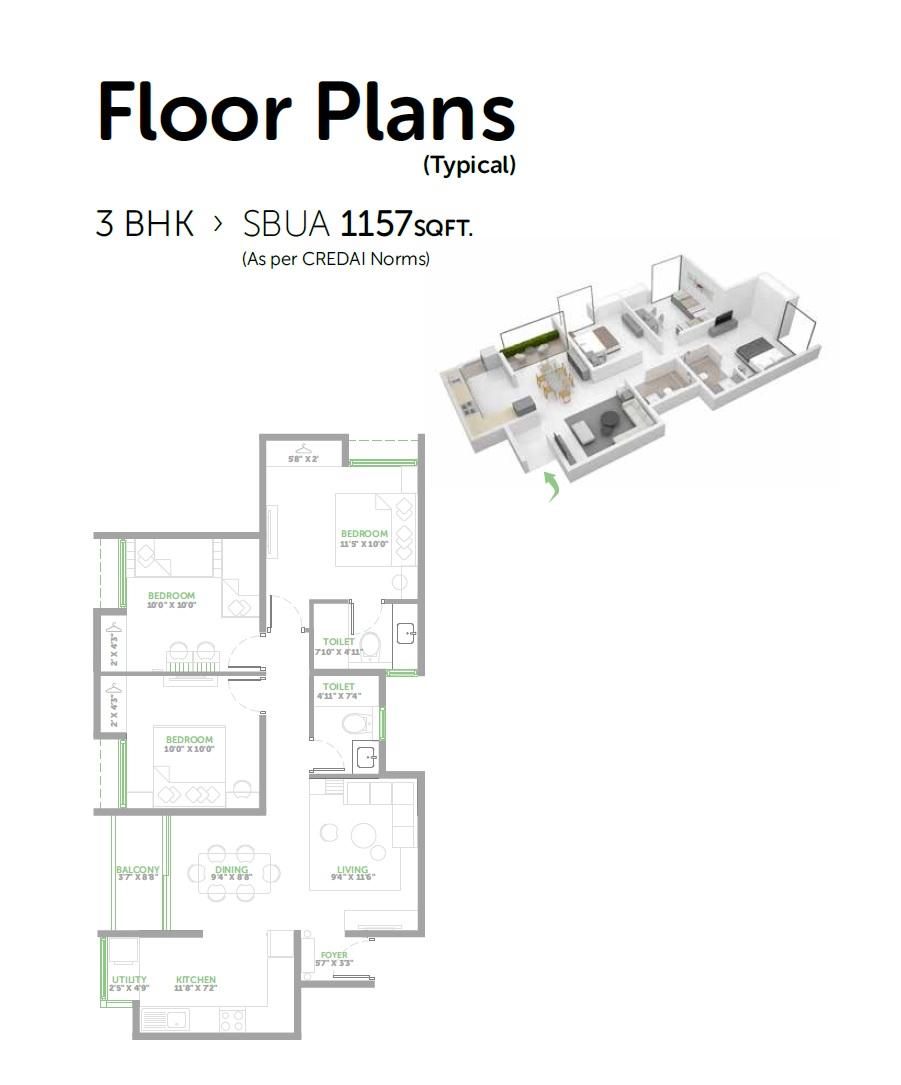 assetz lifestyle 63 east apartment 3bhk 1157sqft 1