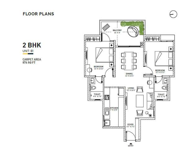 assetz sun and sanctum apartment 2bhk 1150sqft1