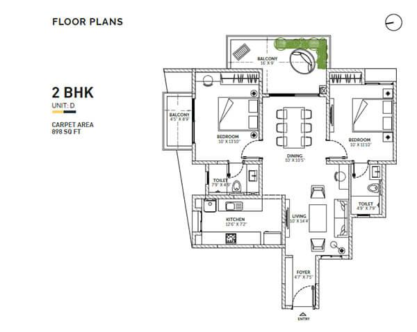 assetz sun and sanctum apartment 2bhk 1250sqft1