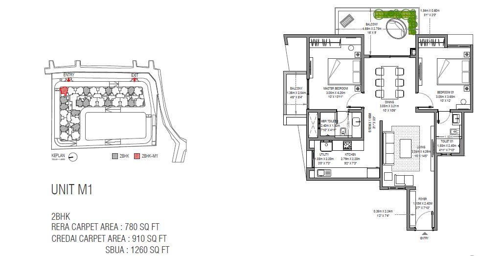 assetz sun and sanctum apartment 2bhk 1260sqft61