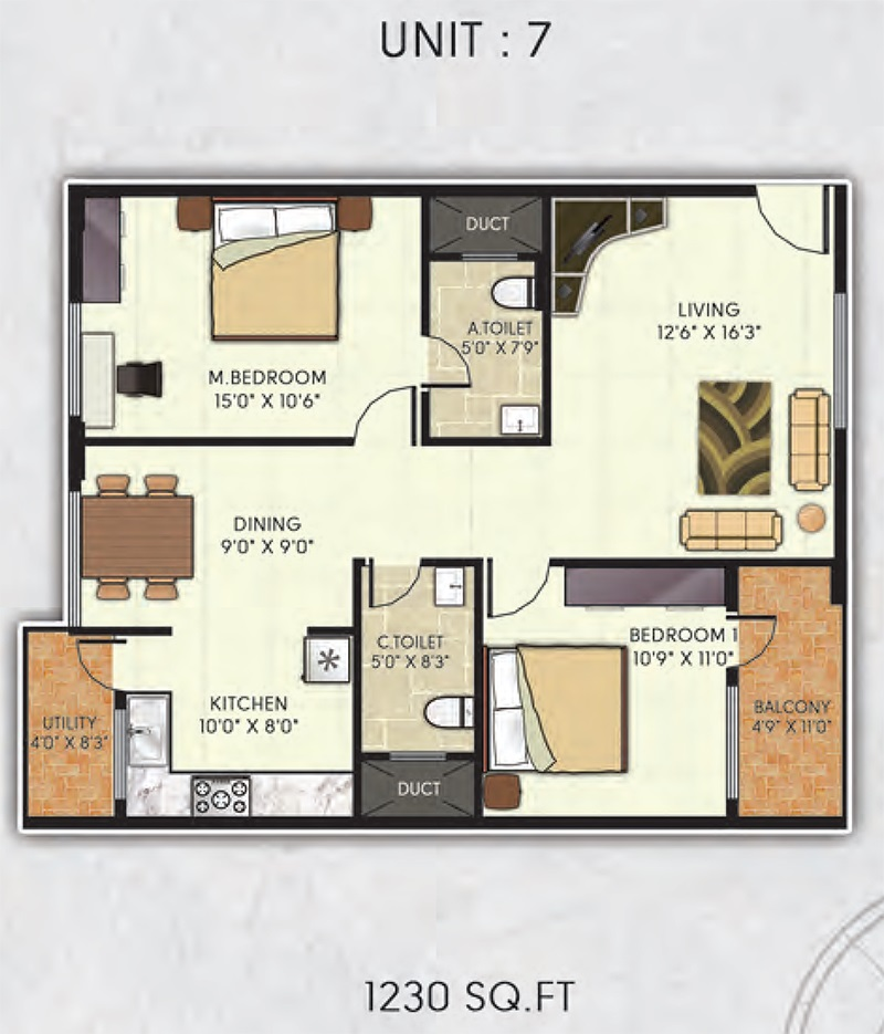 avani gardens apartment 2bhk 1230sqft 1