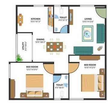 bavisha bentley greens apartment 2 bhk 887sqft 20200721120725