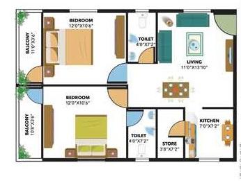 bavisha bentley greens apartment 2 bhk 897sqft 20200721120748