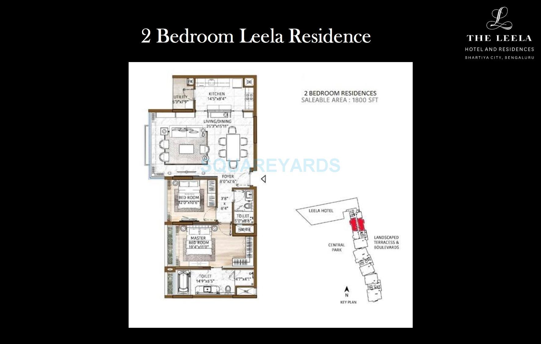 bhartiya leela residences apartment 2bhk 1790sqft1