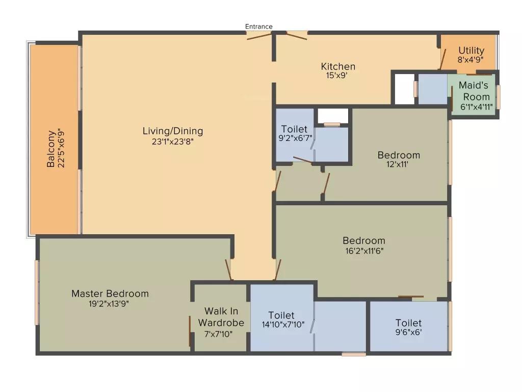 bhartiya leela residences apartment 3bhk 3116sqft121