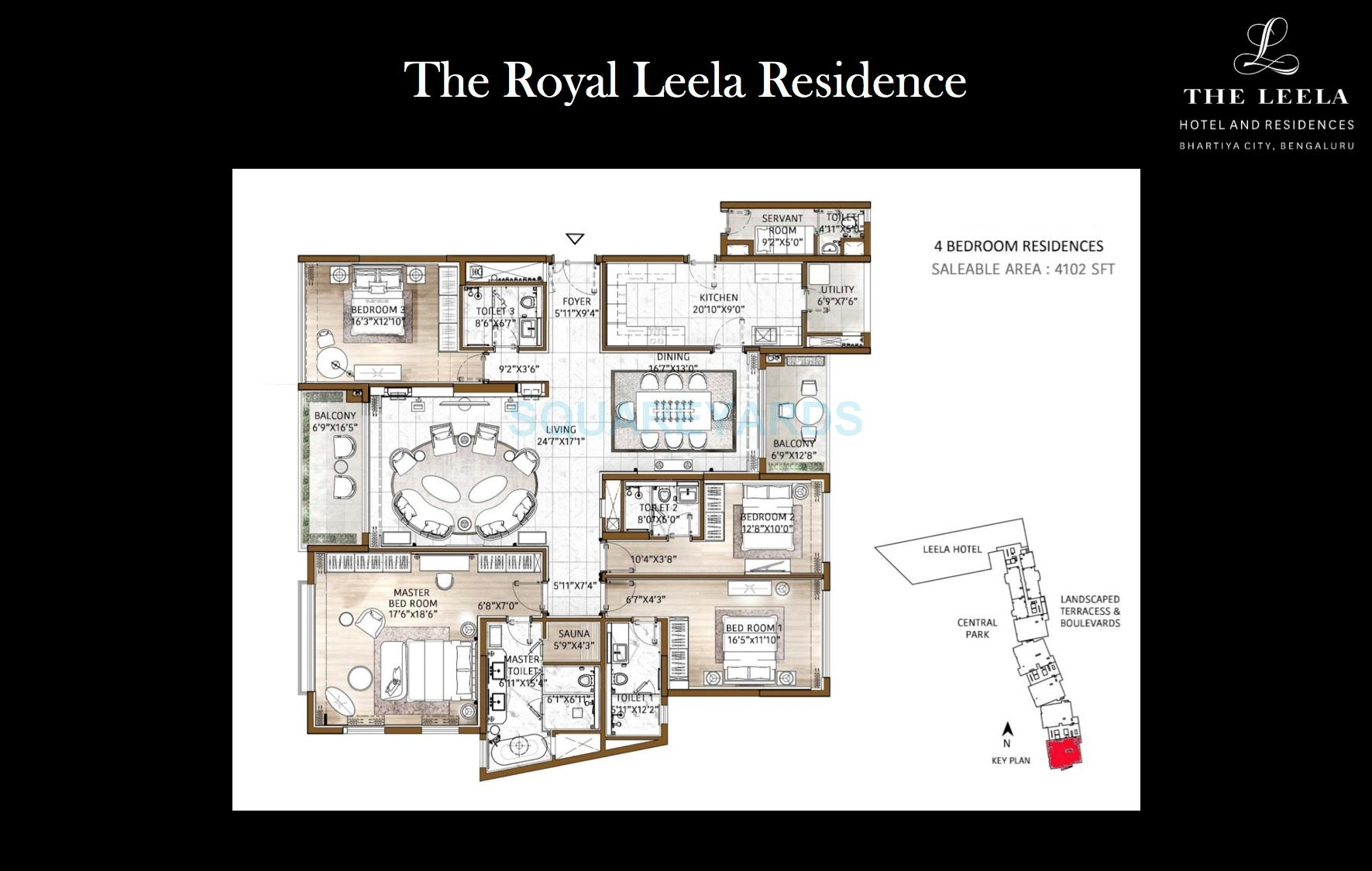 bhartiya leela residences apartment 4bhk 4077sqft1