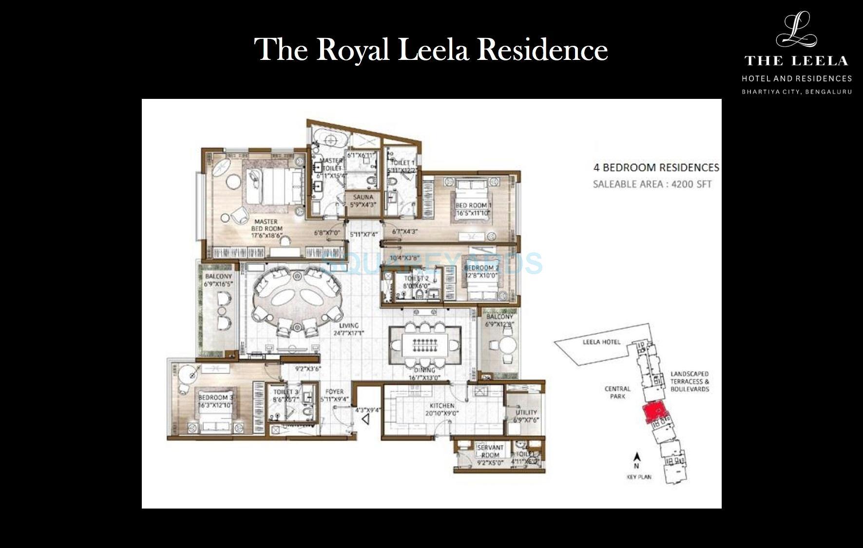 bhartiya leela residences apartment 4bhk 4176sqft1