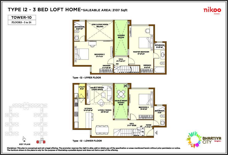 bhartiya nikoo homes apartment 3bhk 2107sqft1