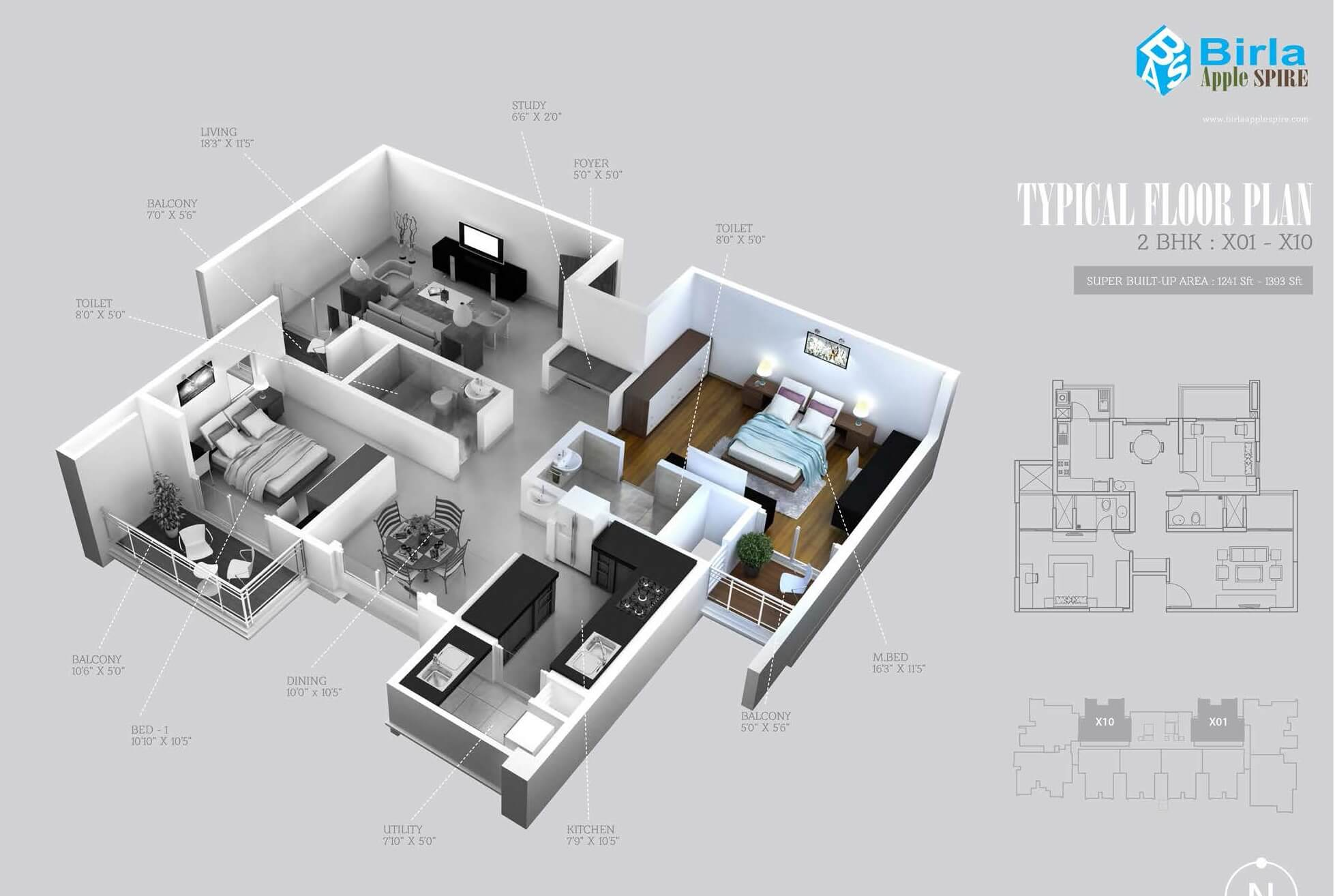 birla apple spire apartment 2bhk 1393sqft 1