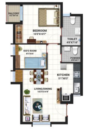bren northern lights apartment 2bhk 602sqft 41