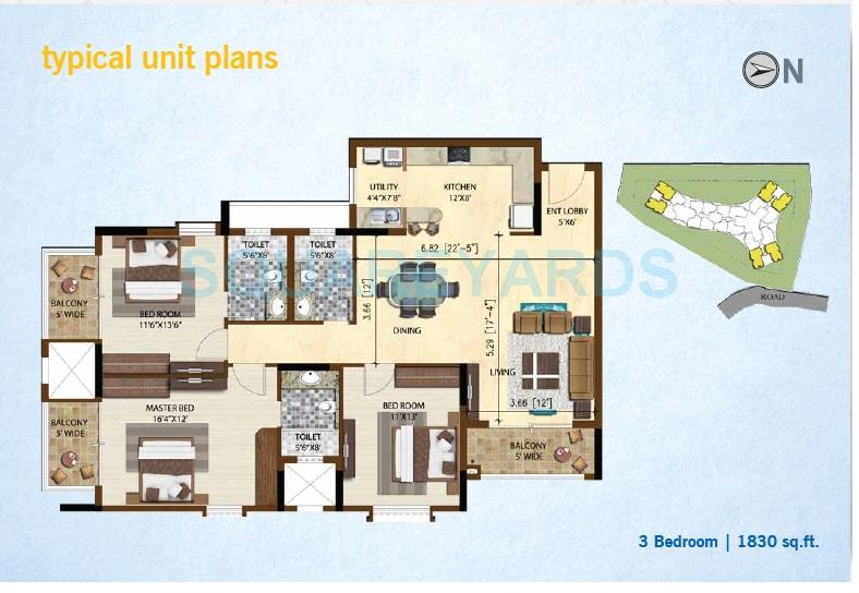 brigade altamont apartment 3bhk 1830sqft1