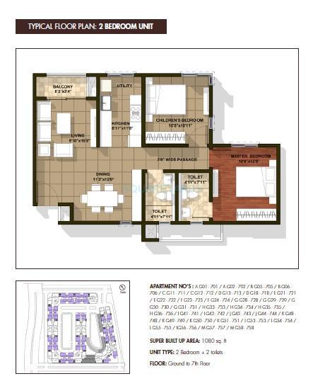 brigade cedar apartment 2bhk 1080sqft1