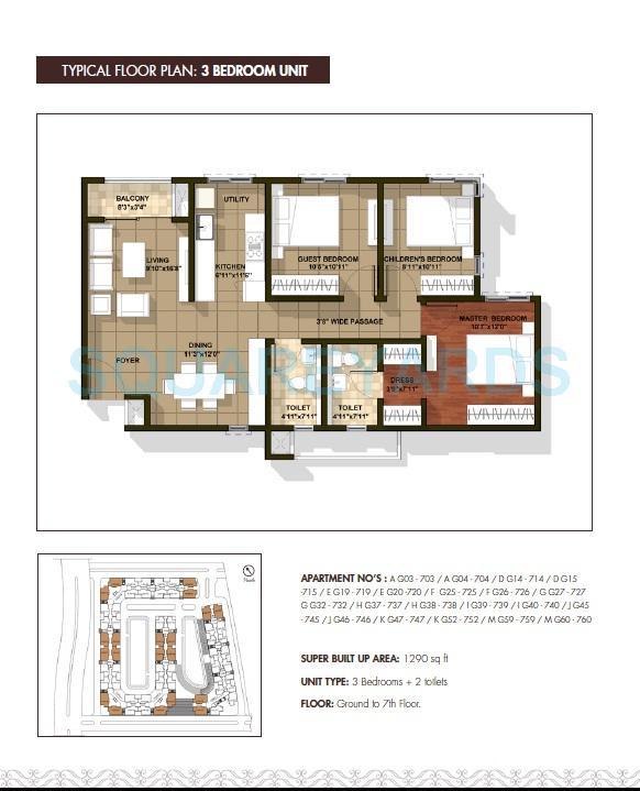 brigade cedar apartment 3bhk 1290sqft1