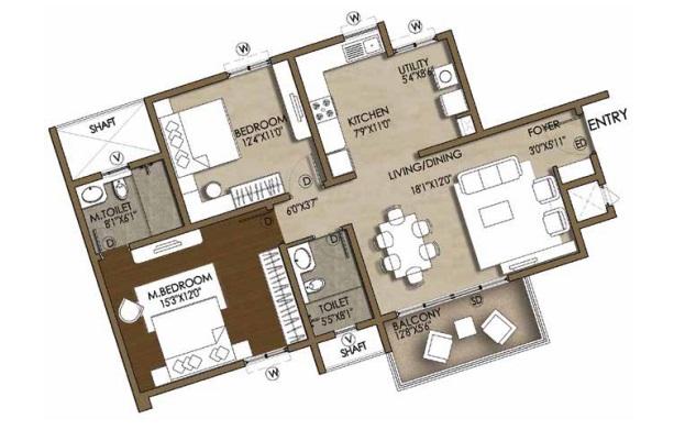brigade cosmopolis apartment 2bhk 1270sqft141