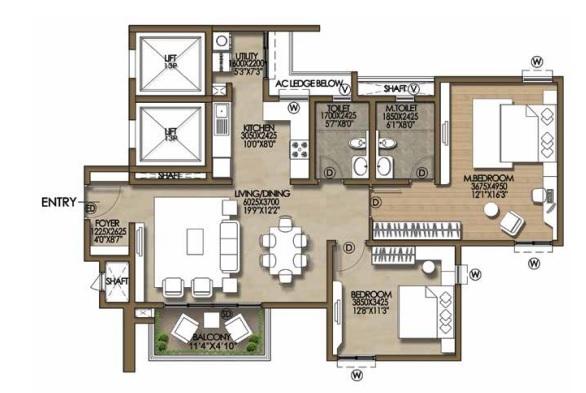 brigade cosmopolis apartment 2bhk 1320sqft141